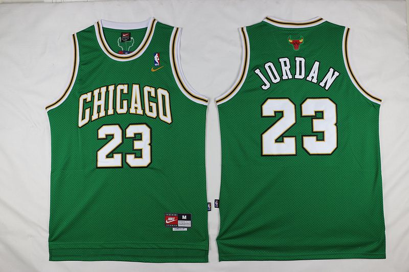 776289739ba2 NBA Chicago Bulls  23 Michael Jordan Green Swingman Jersey