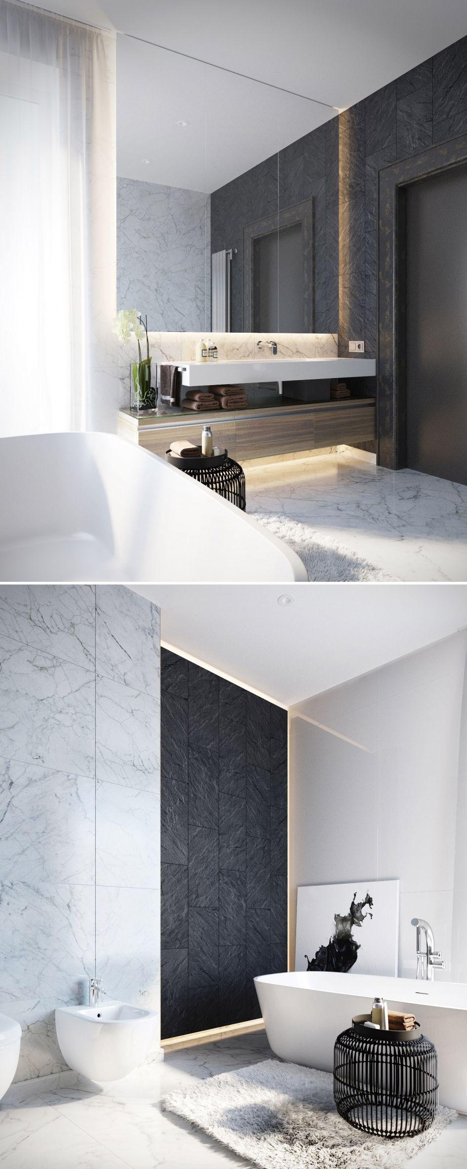Cdiscount Colonne Salle De Bain Laque ~ salle de bain marbre noir blanc chambre hotel pinterest