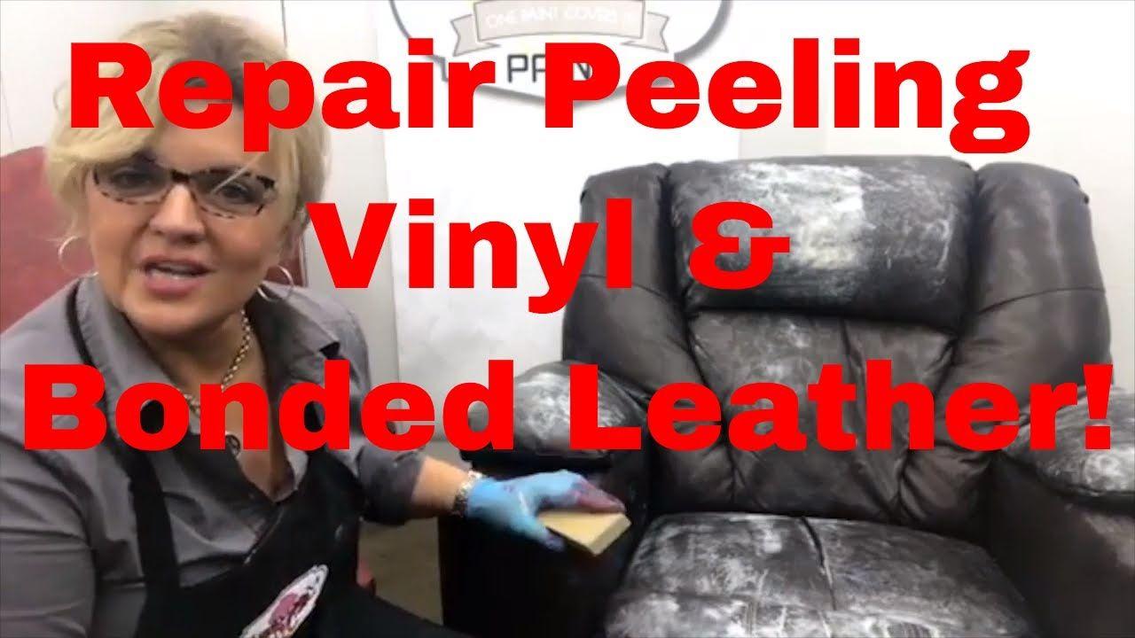 How to repair peeling bonded leather vinyls vinyl