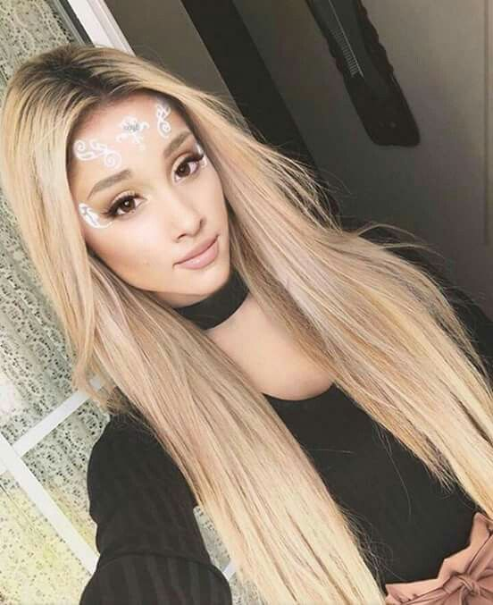 Pics of ariana grande with blonde hair
