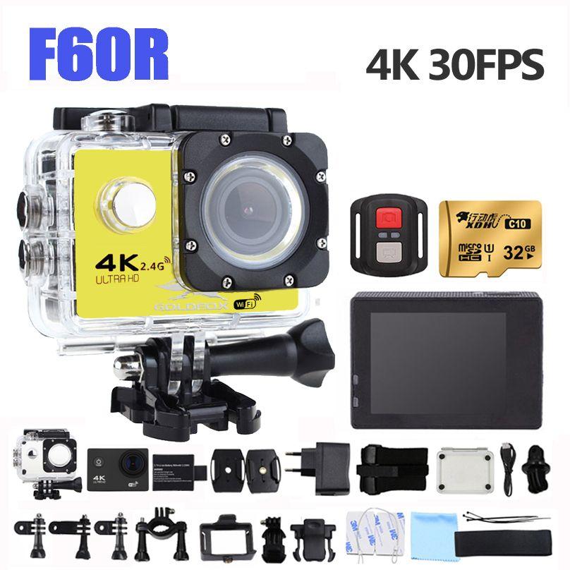 GOLDFOX Action Camera 4K F60R wifi extreme Mini Recorder