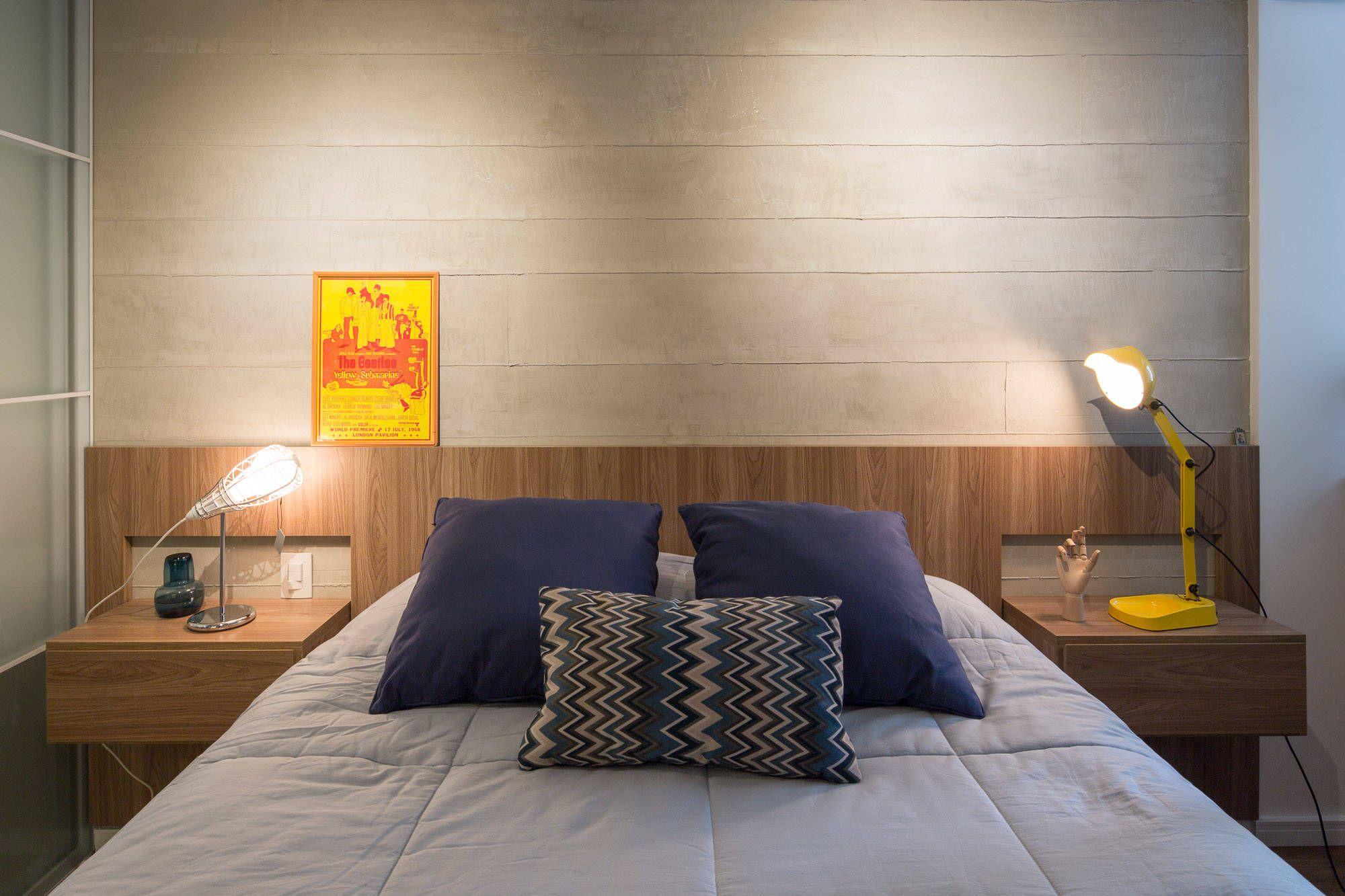 Apartamento trama quartos moderno por semerene arquitetura interior