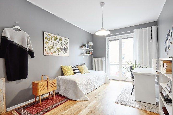 Habitaciones juveniles de estilo n rdico decoracion for Habitaciones decoracion nordica