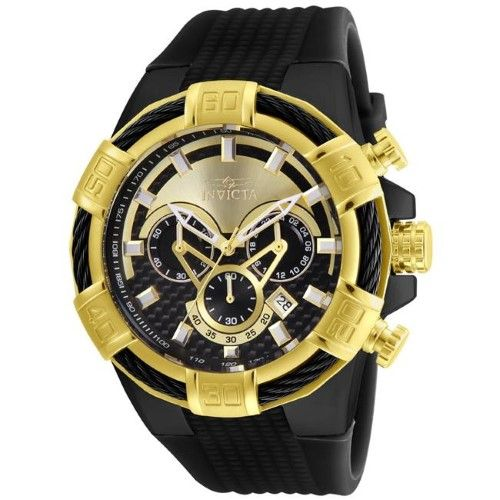 3409c6638 Invicta 886678298839 Mens 24699 Bolt Quartz Multifunction Gold & Black Dial  Watch, As Shown