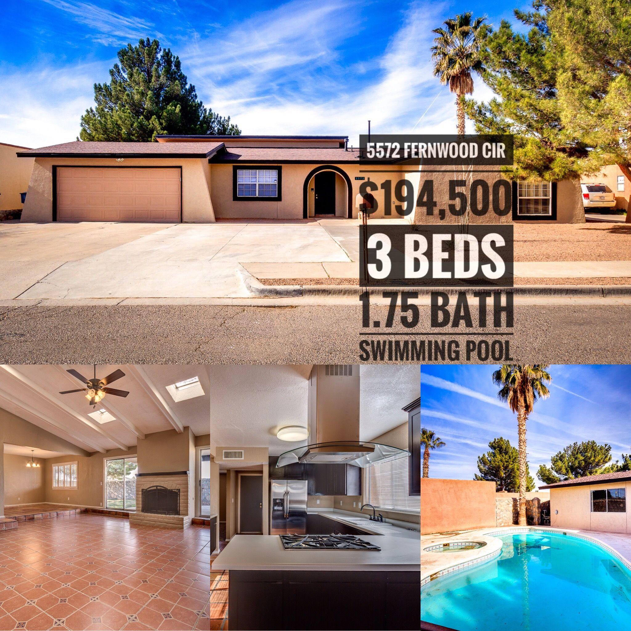 5572 Fernwood El Paso Tx 79932 Elpaso Elpasotx Westelpaso Itsallgoodep Rental Rentalhome Rentalproperty House Rental Rental Property Renting A House