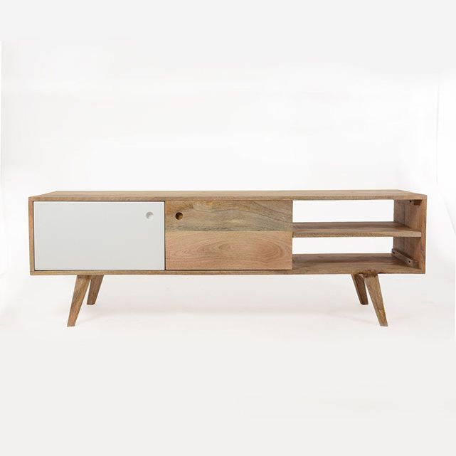 Meuble tv scandinave en bois artiq bt0196g meuble tv for Meuble tv scandinave