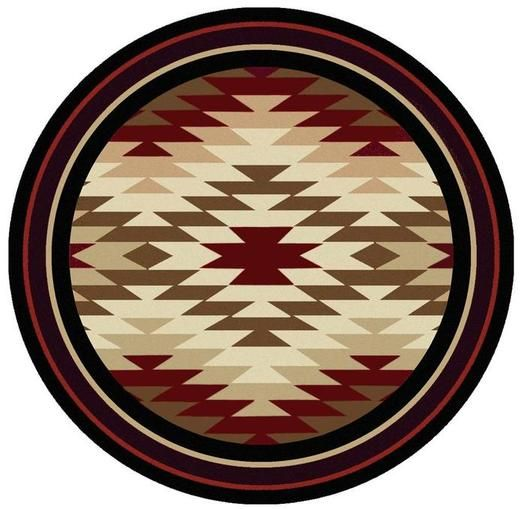Starburst Red 8ft Round Area Rug Area Rugs Round Area Rugs