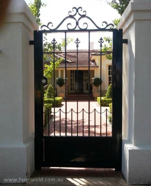 Gorgeous Hand Forged Wrought Iron Personal Access Gate In Adelaide