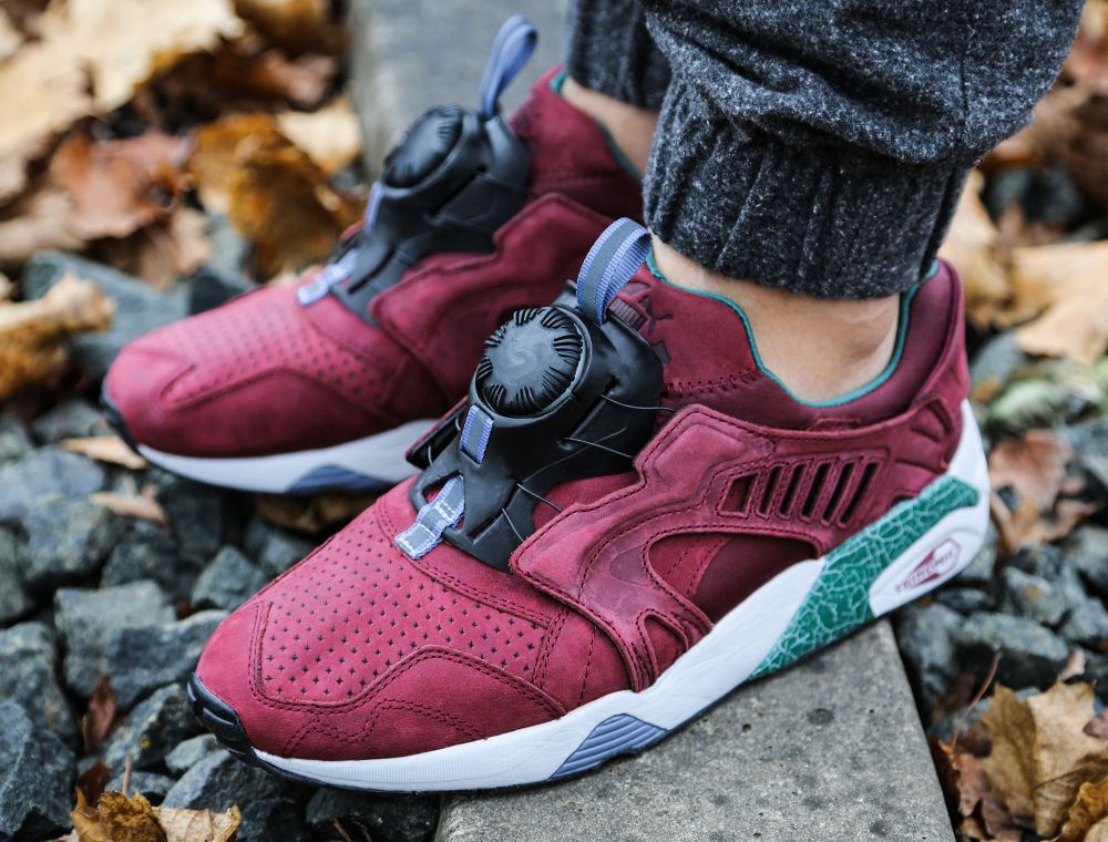 puma disc rouge bordeaux