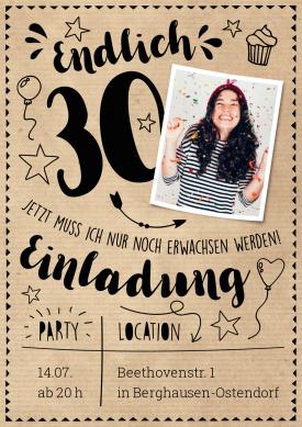 Endlich 30 Einladungen 30 Geburtstag Pinterest 30th Birthday