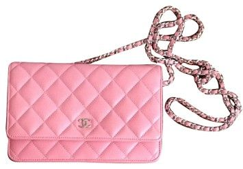 e1a626ba92b10a Chanel Quilted Wallet On A Chain - Tradesy | TICKELED PINK | Quilted ...
