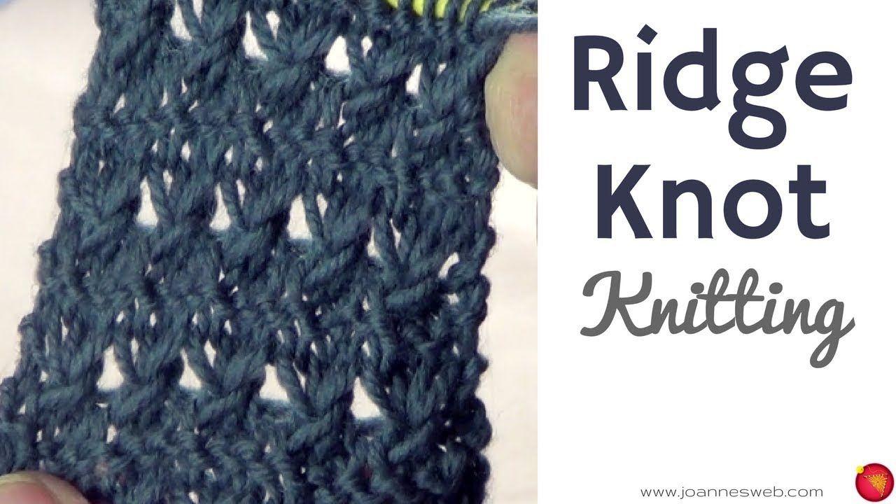 Ridge Knot Stitch Knitting Ridge Knit Knot Knitted Stitches