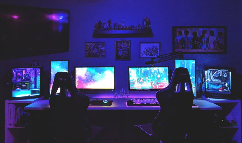 Cool Gaming Setup For Couples Best Gaming Setup Gaming Computer Desk Pc Gaming Setup