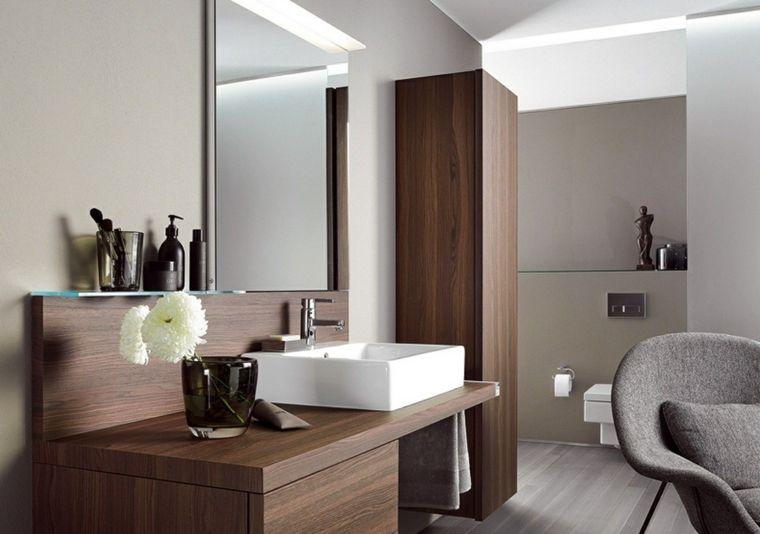 Come arredare un bagno moderno con mobile di legno e lavabo da ...