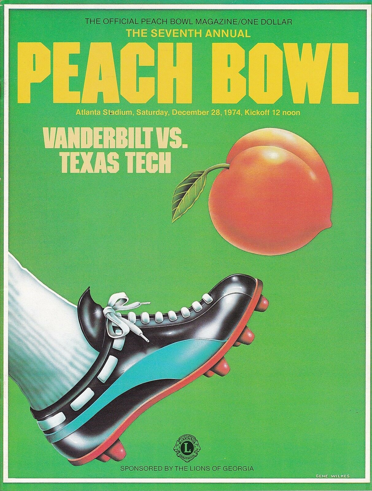 Vanderbilt vs Texas Tech 1974 Peach Bowl college football