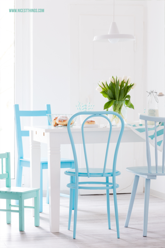 gestalten Stühle lackierenDIY Stühle Ombré mit Sprühfarbe Yb76ygIfvm