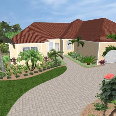 miami landscape front yard designer
