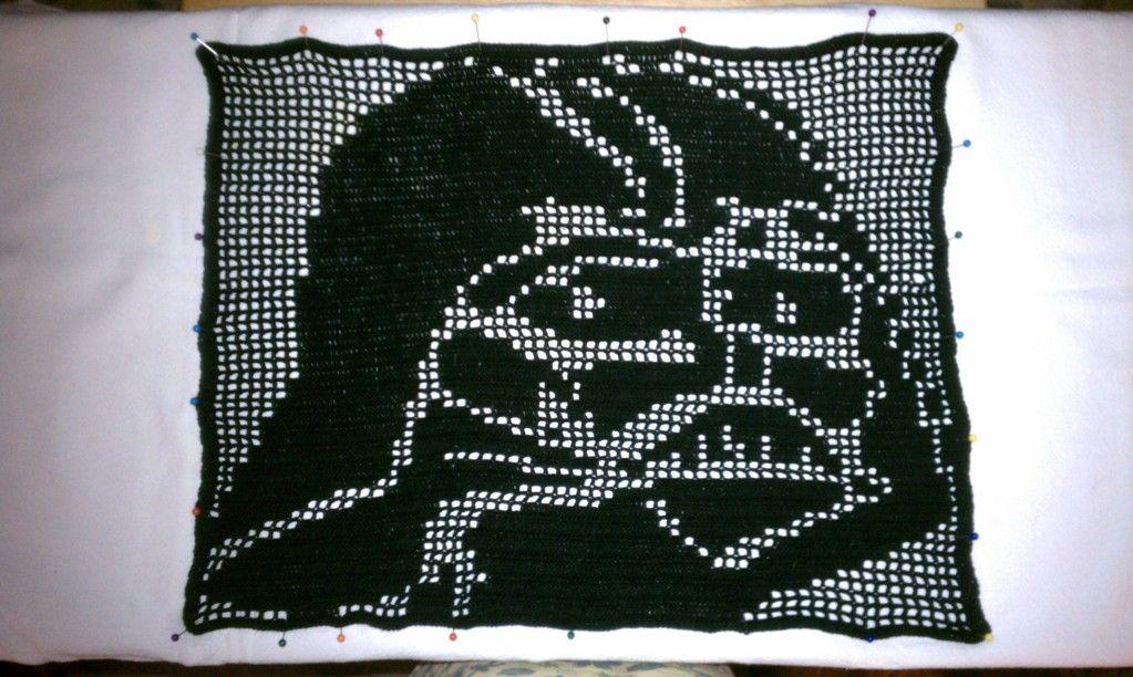 Filet Crochet Darth Vader - CROCHET