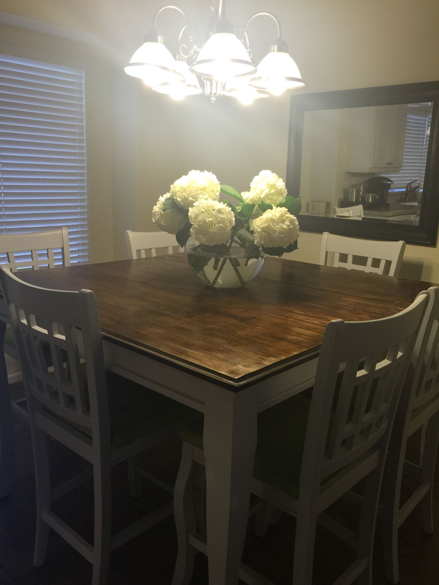 Pub Kitchen Table Unique Cabinets My Project Is Complete Refinished Was Black Before I Love Power Tools