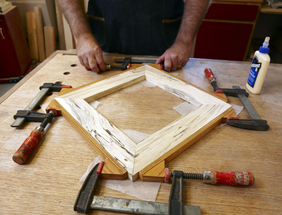 picture frame miter clamp jig | pull together miters using
