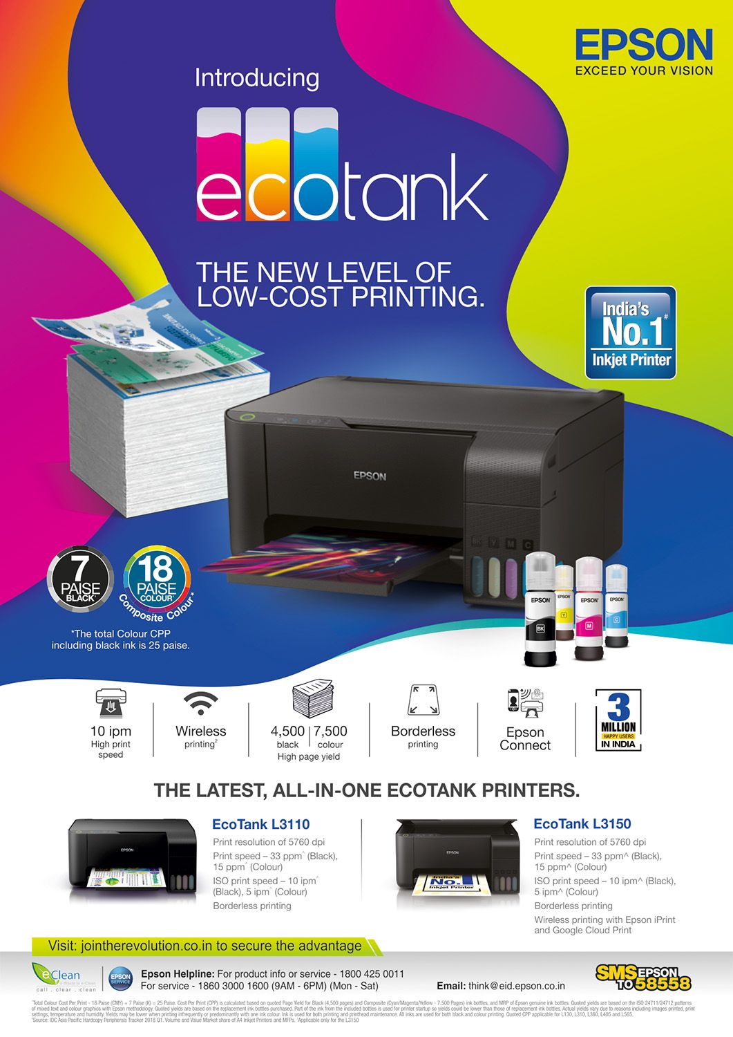 Pin by Epson Shop on printer projector infographic | Ecotank