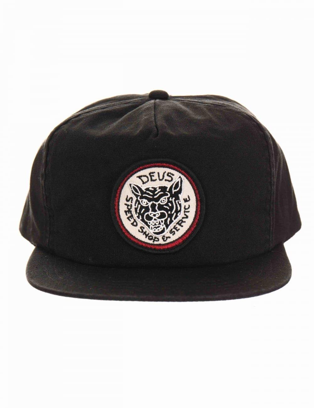 b34e0e0f243 Deus Ex Machina Tiger Head Cap - Washed Black - Hat Shop from Fat Buddha  Store UK