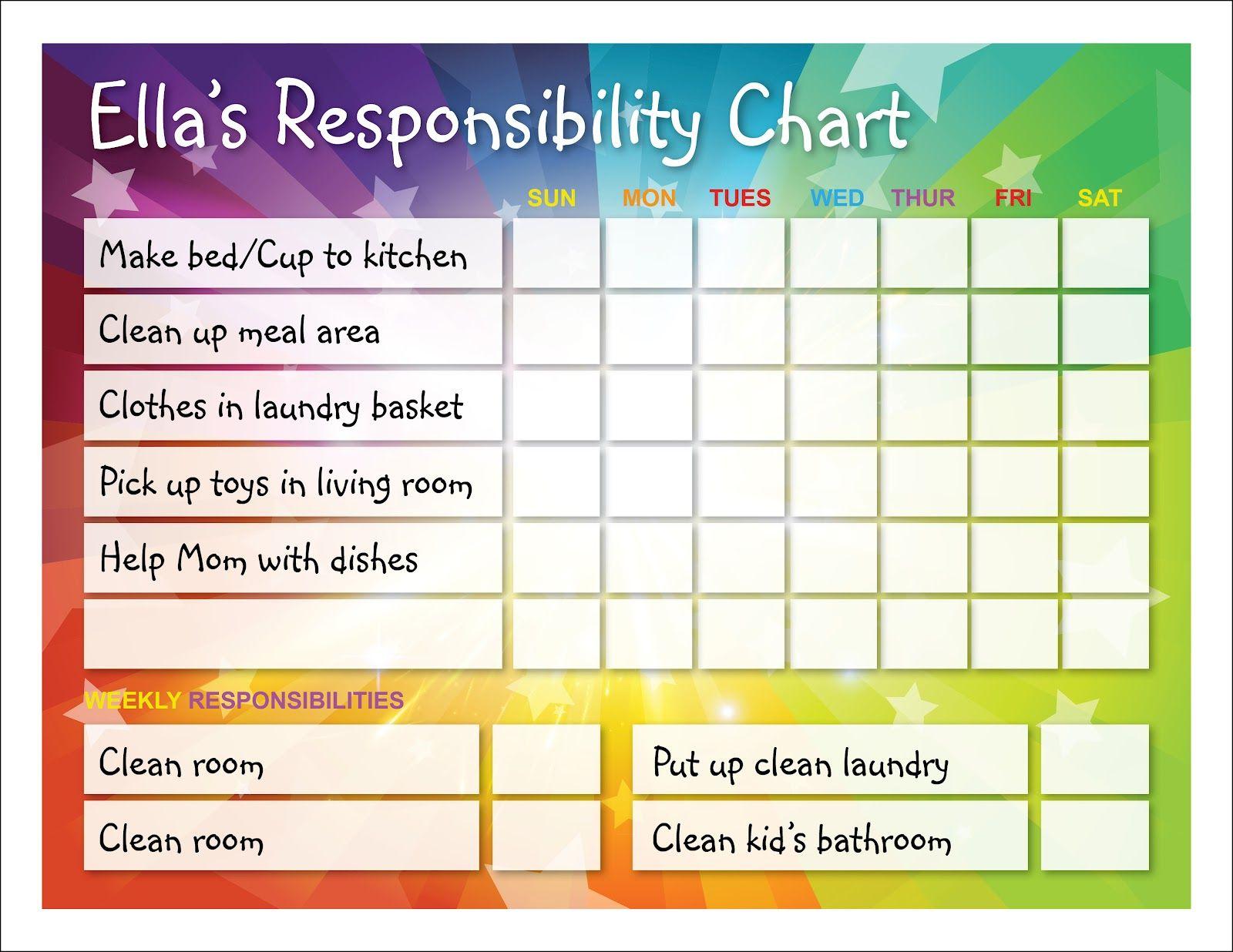 responsibility chart templates