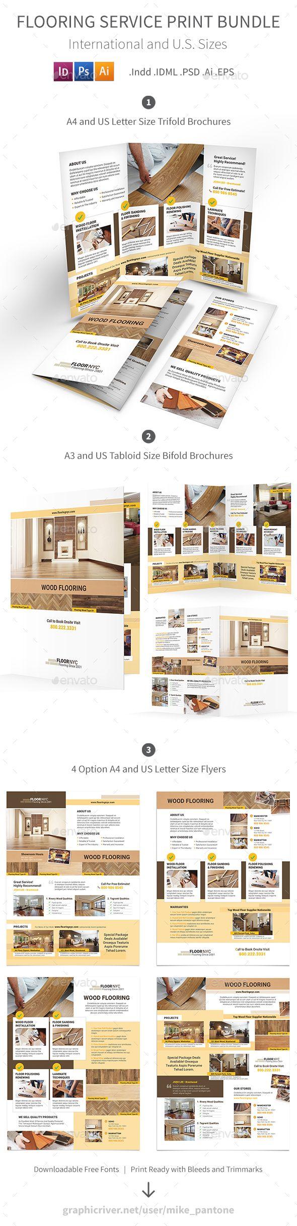 flooring service print bundle informational brochures brochure