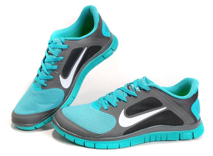 d6c562518683 2013 Mens NIKE FREE 4.0 V3 Run+ Shoes Blue Grey