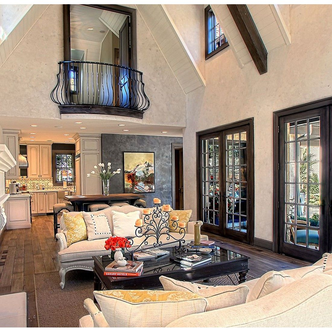 single indoor balcony that facing the living room pretty