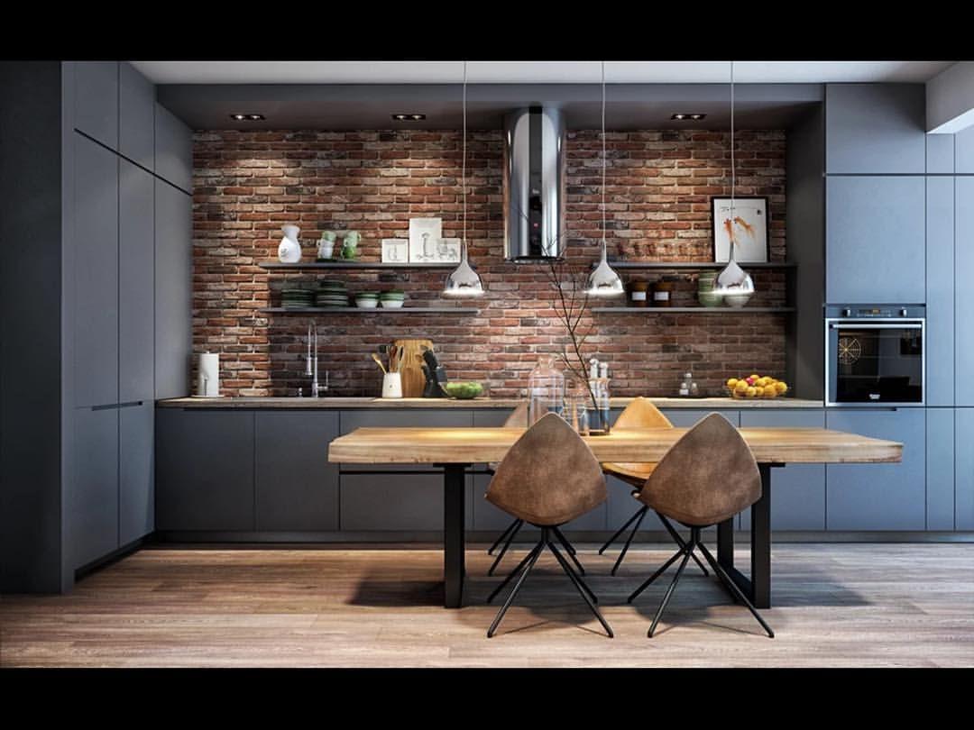 Lora Lihet On Instagram The Grey Cabinets Kitchen Modern Design Decorating101 Interiordesign Furniture Loft Home Decor