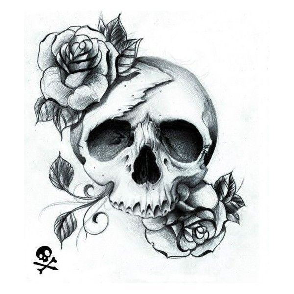 pretty skull tattoo ideas ❤ liked on Polyvore featuring accessories and tattoos