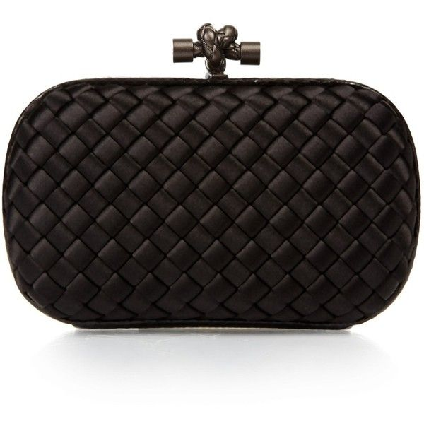 56a7cd74ff Bottega Veneta Knot satin and water-snake clutch ( 1