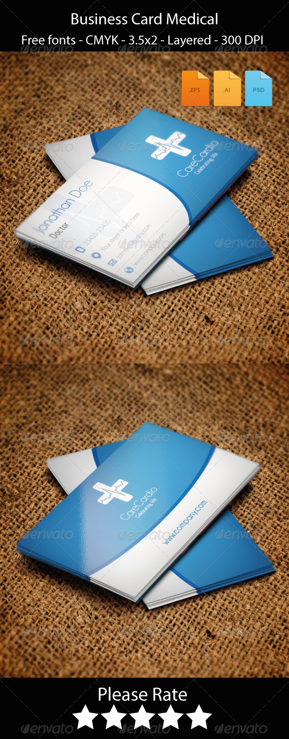 8 best images about Tarjetero – Medical Business Card Templates