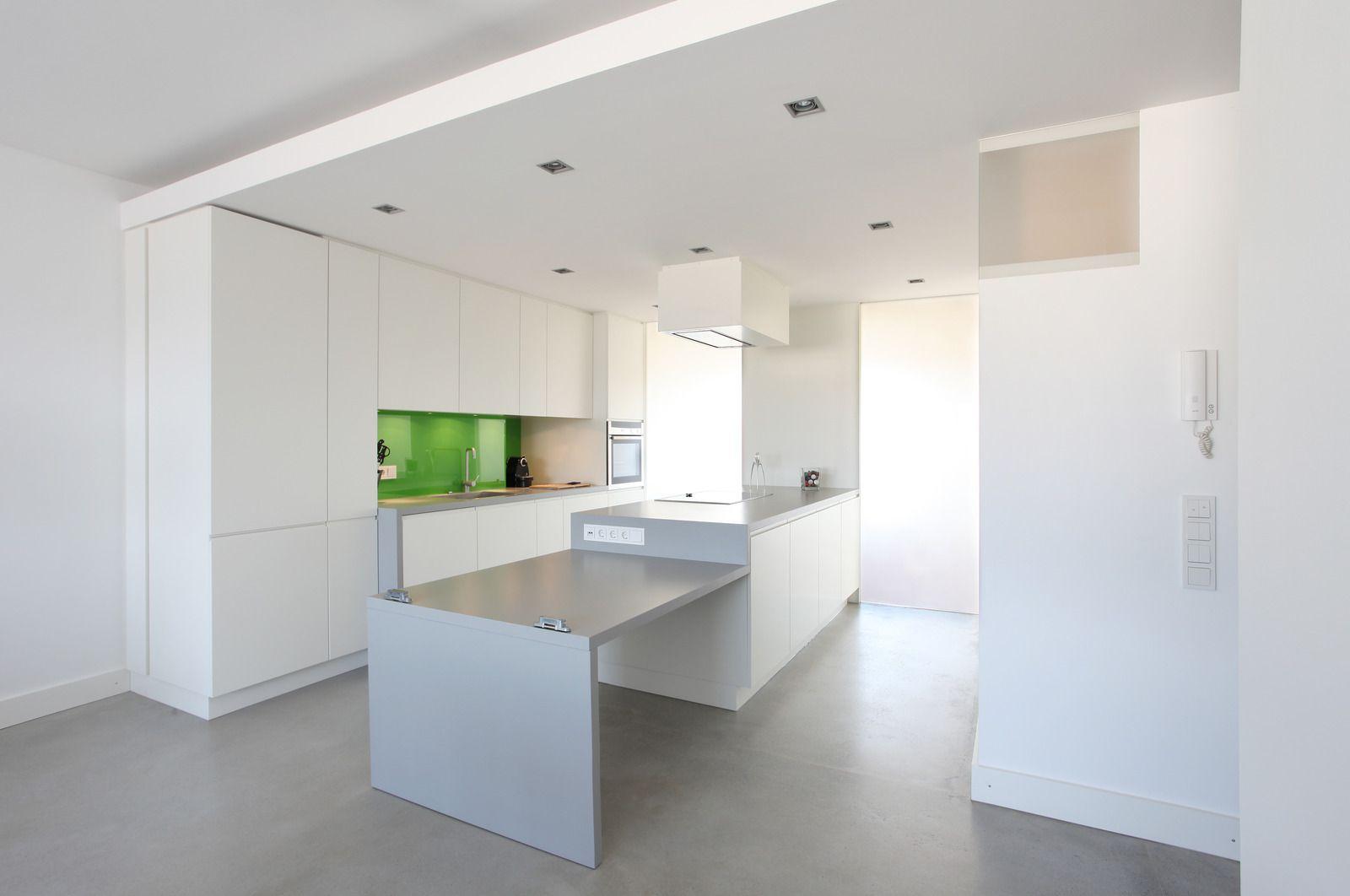 Modern Suspended Ceiling Apartment Kitchen Interior