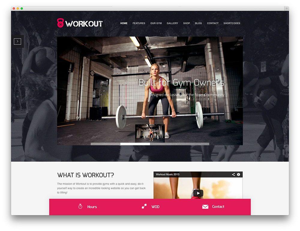 Workout crossfit wordpress theme website design inspirations for website designs solutioingenieria Gallery
