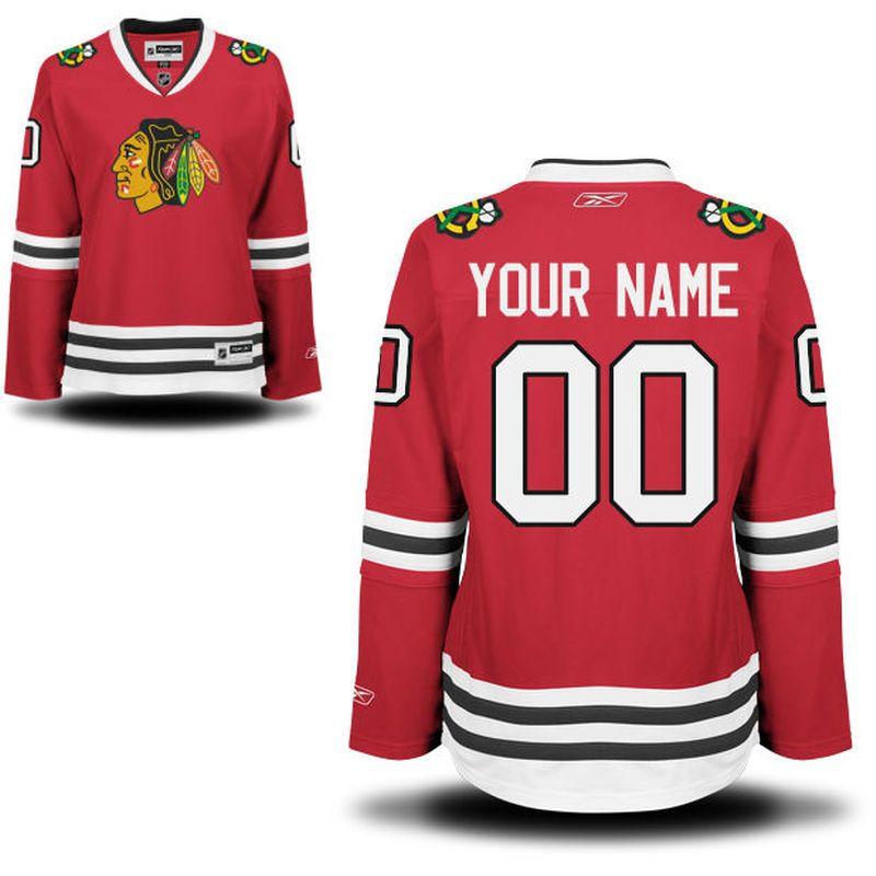 67c582fece1 Reebok Chicago Blackhawks Women's Premier Home Custom Jersey - Red ...