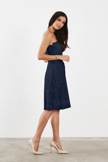 Ruby Bridesmaid Dress in Navy blue in Lace