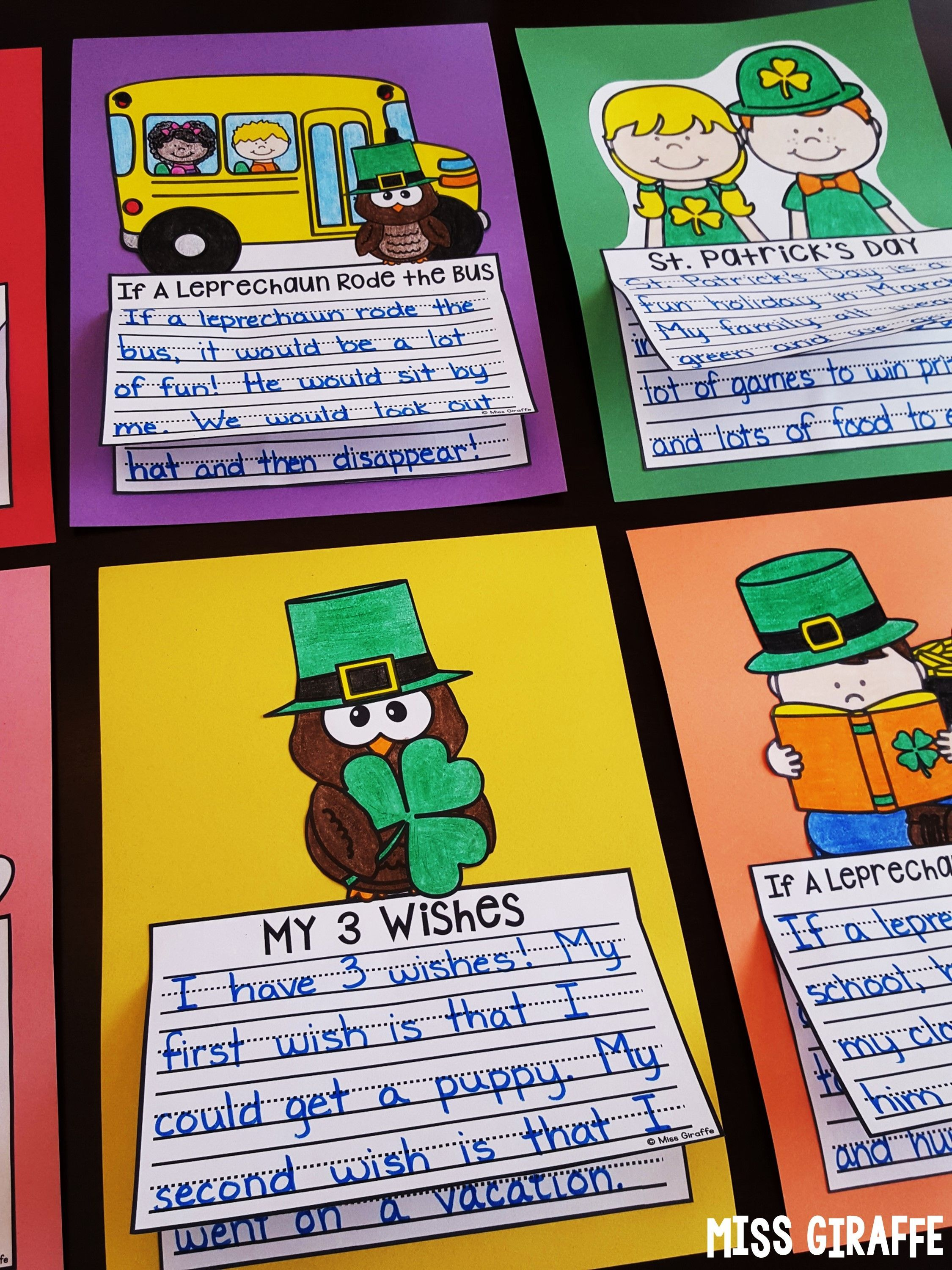 St Patrick S Day Writing Crafts No Prep