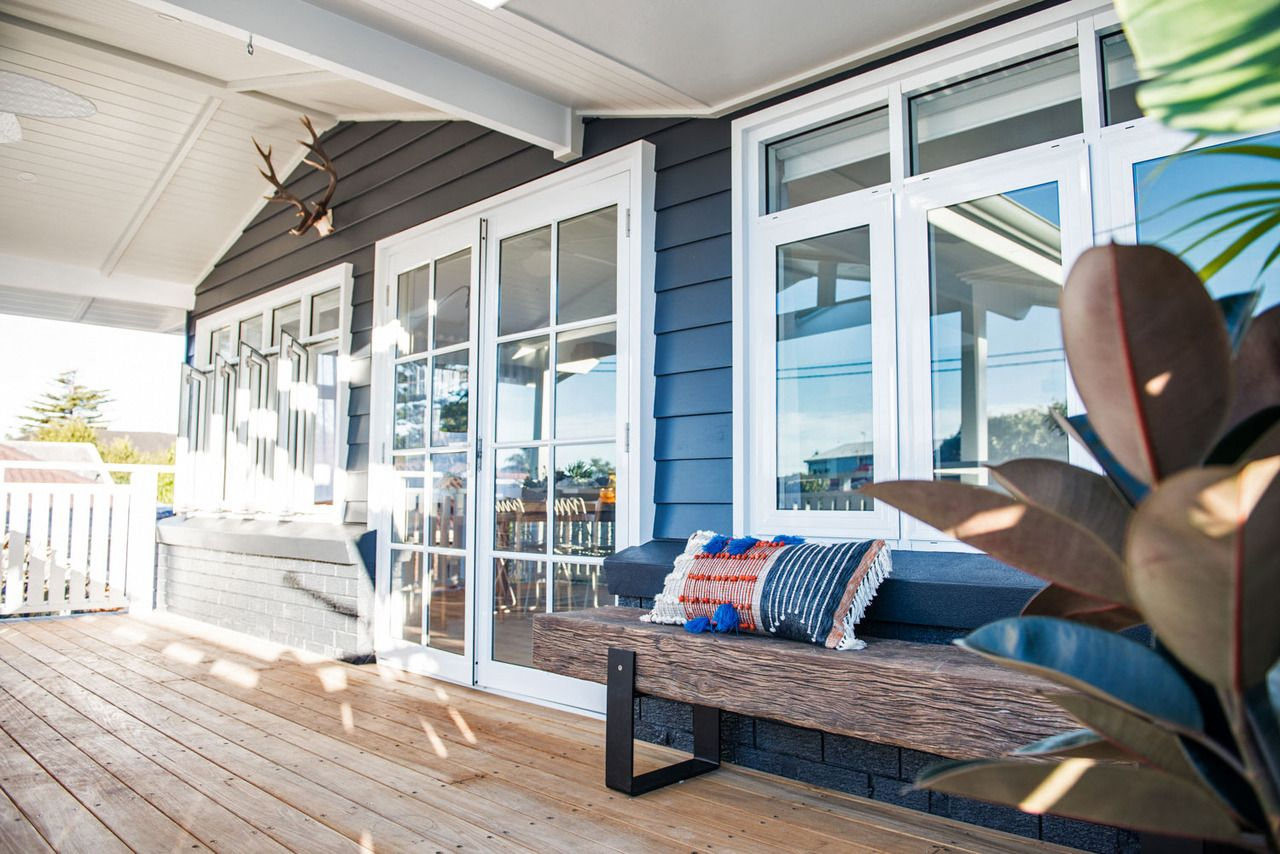 Kyal and Kara\'s Toowoon Bay Reno. Wideline French doors with ...