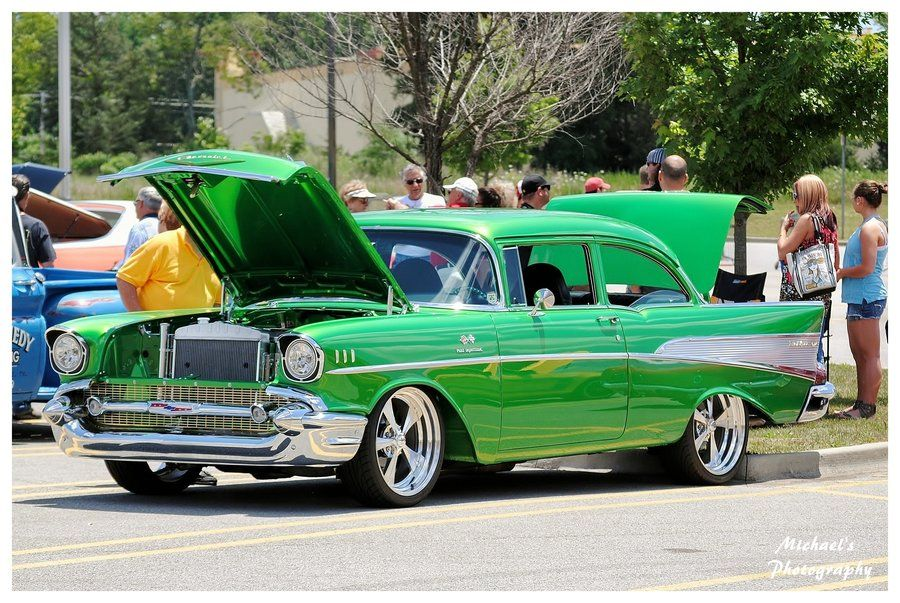 Grass Green 57 Chevy By Theman268 Deviantart Com On Deviantart Classic Cars Chevy Vintage Cars
