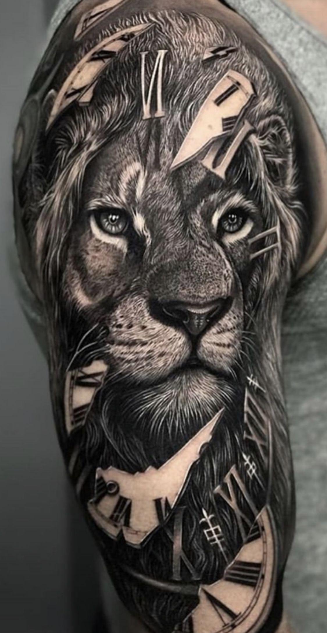 Lion Half Sleeve Badass Sleeve Tattoos Mens Lion Tattoo Lion Tattoo Sleeves