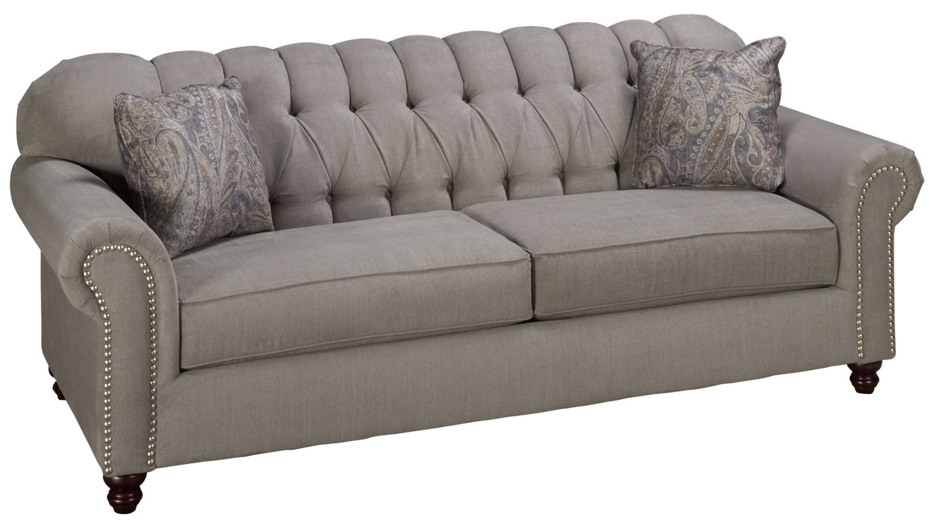 klaussner sofa klaussner holland traditional hybrid sofa