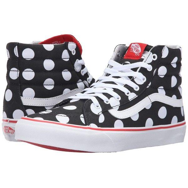 Vans SK8-Hi Slim ((Polka Dot) Black Fiery Red) Skate Shoes ( 65 ... 5e4bfc0156c