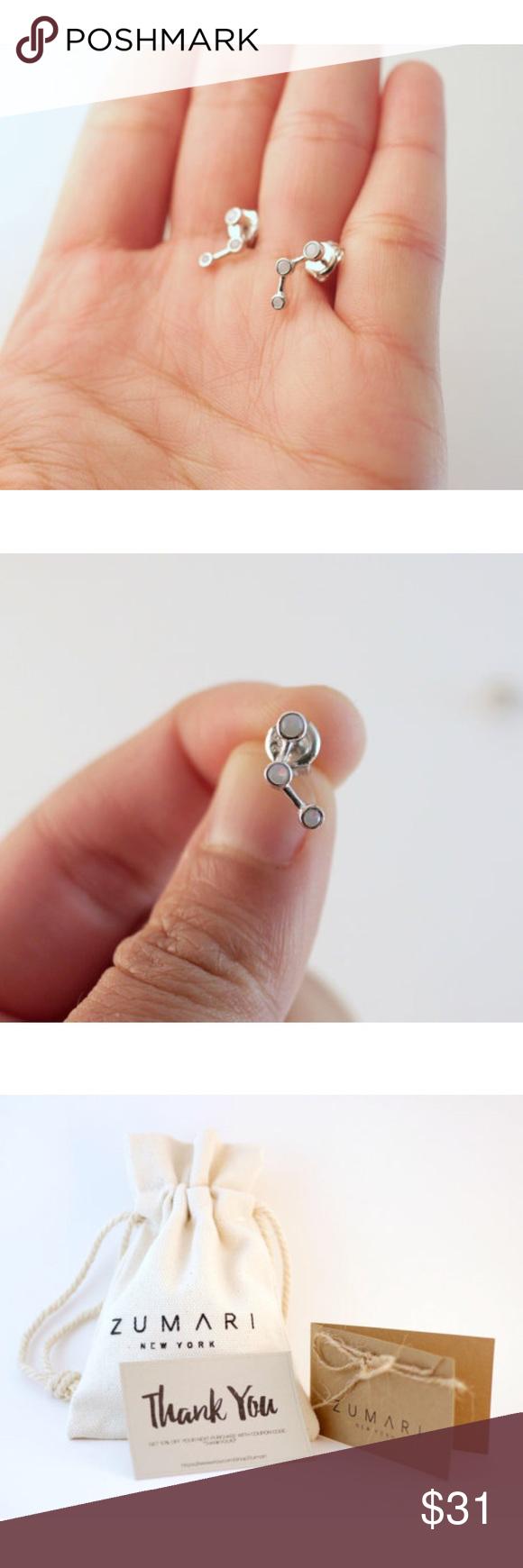 Selling this Opal Earring Climbers   Sterling Silver on Poshmark! My username is: zumari. #shopmycloset #poshmark #fashion #shopping #style #forsale #ZUMARI #Jewelry