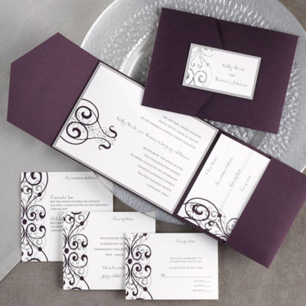 Carlson Craft Pocket Wedding Invitations: Awesome Carlson Craft Wedding Invitations Designs