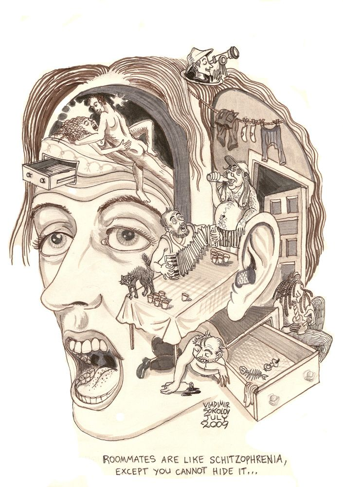 Schizophrenie Comic