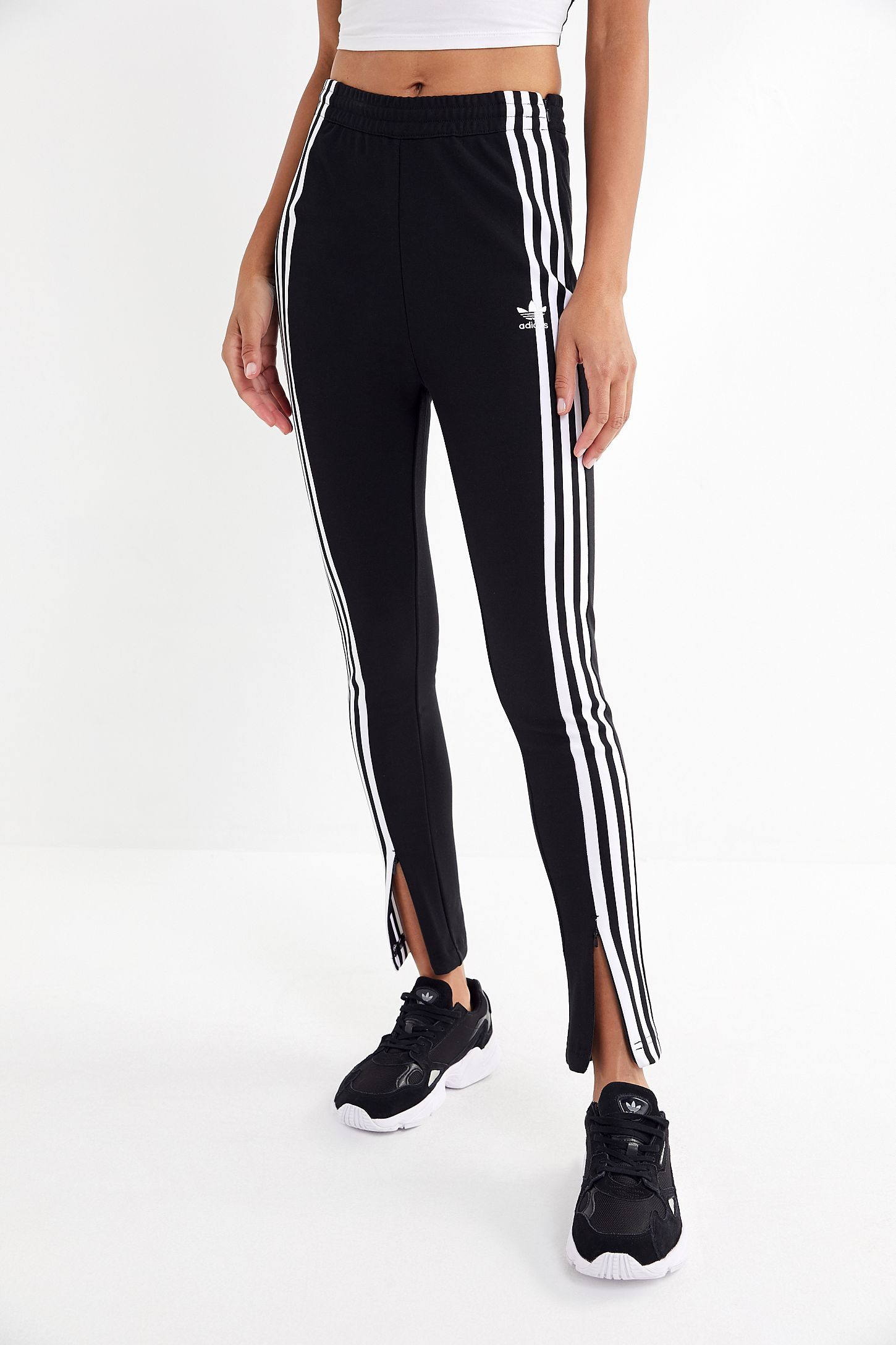 2eae44848809 Slide View  4  adidas High-Rise Split-Ankle Track Pant