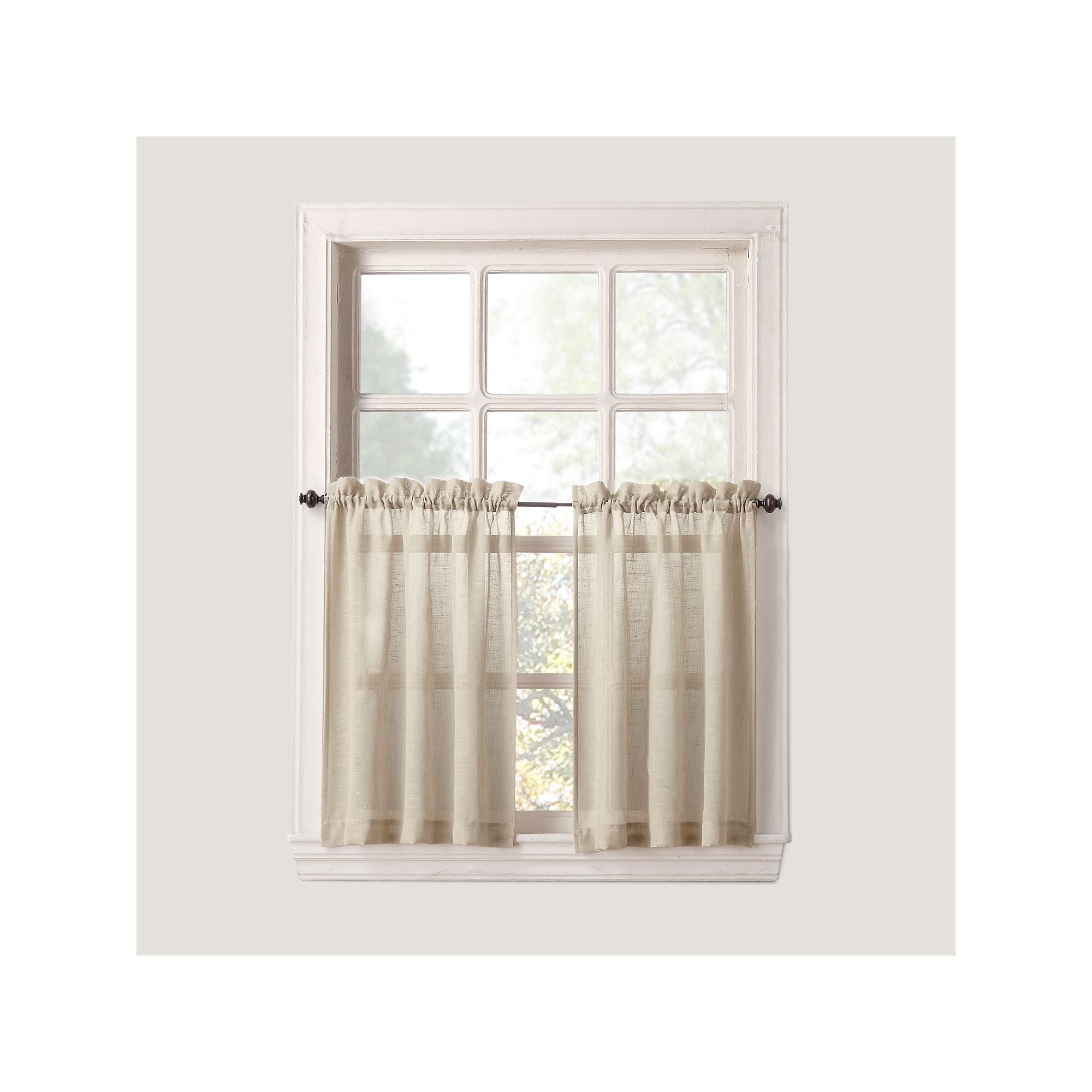 Sonoma goods for lifetm ayden linen blend tier curtain pair tier