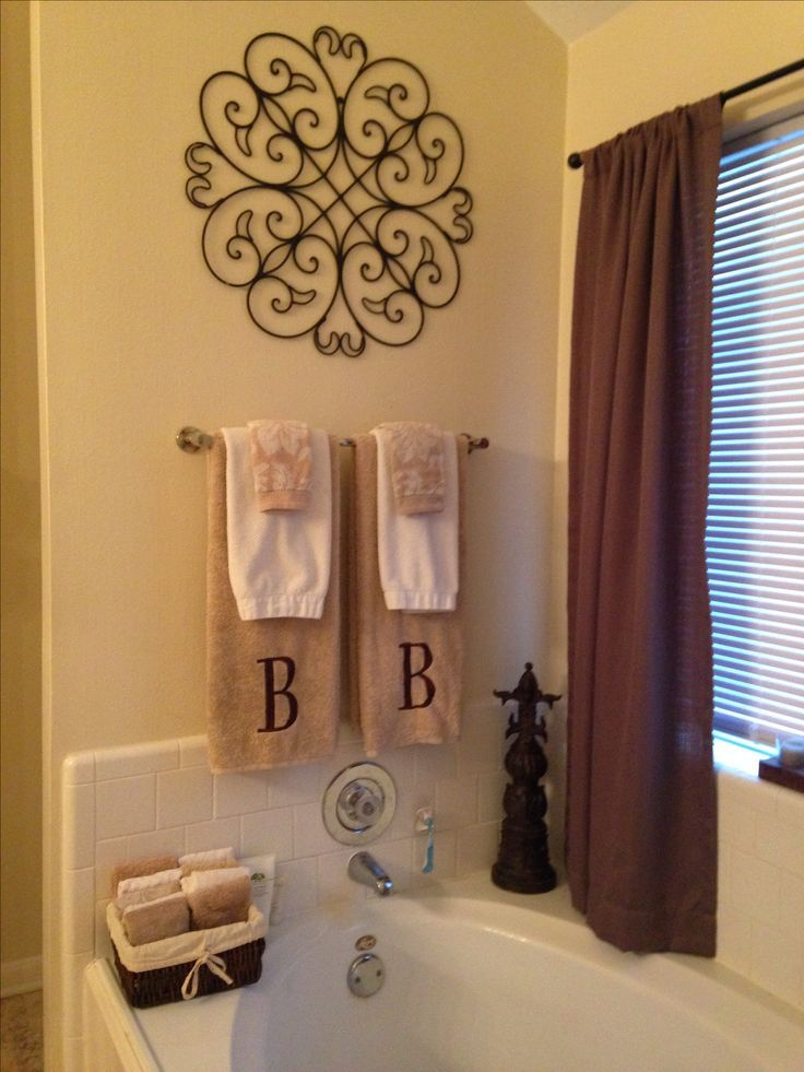 Master Bathroom Decor Bathroom Pinterest Master Bathrooms - Designer bath towel sets for small bathroom ideas